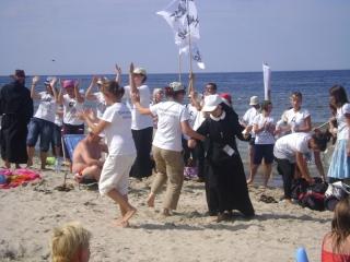 szaleństwo na plaży :D